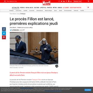 Le procès Fillon est lancé, premières explications jeudi