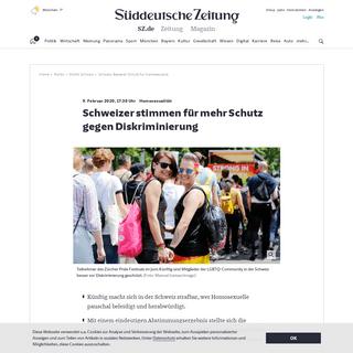 Schweiz- Besserer Schutz für Homosexuelle - Politik - SZ.de