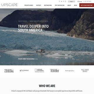 UPSCAPE - Authentic Adventures + Guided Tours In South America