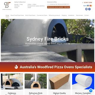 Pizza Ovens Sydney - Wood Fired Pizza Ovens - Sydney Fire Bricks