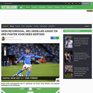 ArchiveBay.com - www.voetbalkrant.com/nieuws/2020-02-29/napoli-won-met-2-1-van-torino - Napoli won met 2-1 van Torino - Voetbalnieuws - Voetbalkrant.com