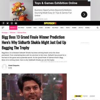 Bigg Boss 13 Grand Finale Winner Prediction- Here's Why Sidharth Shukla Might Just End Up Bagging The Trophy