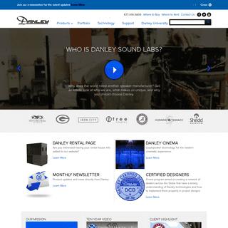 Danley Loudspeakers - Danley Sounds Labs - Danley Sound Labs, Inc.