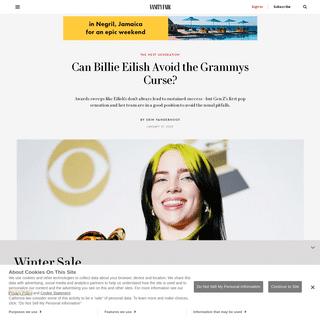Can Billie Eilish Avoid the Grammys Curse- - Vanity Fair