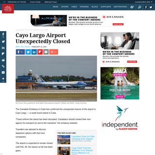 Cayo Largo Airport Unexpectedly Closed - TravelPulse Canada