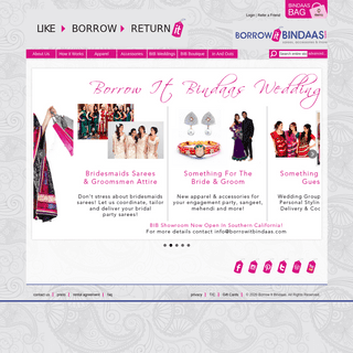 ArchiveBay.com - borrowitbindaas.com - Borrow It Bindaas - Indian Sarees, Indian Fashion & Accessories for Rental or Purchase - Home page