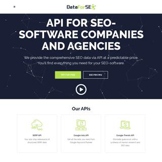SEO software API ⓴⓴. API for agencies. Best SEO data API provider.