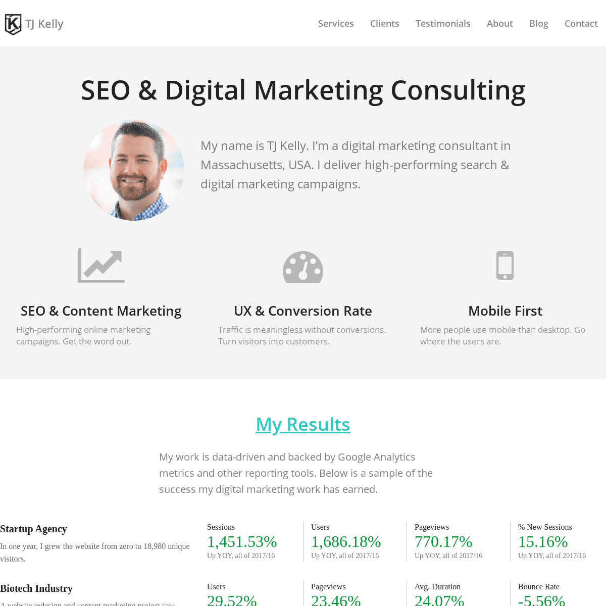 ArchiveBay.com - tjkelly.com - TJ Kelly - SEO & Online Marketing Consulting - North Andover, MA