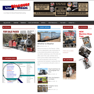 Discover Live Steam – Live Steam & Diesel Model Railroading
