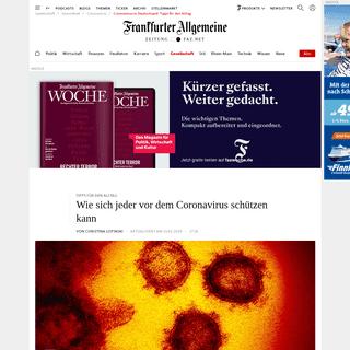 Coronavirus in Deutschland- Tipps für den Alltag