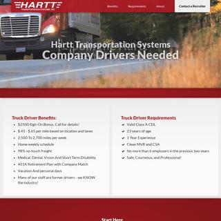 Class A Trucking Jobs - Hartt Transportation Systems