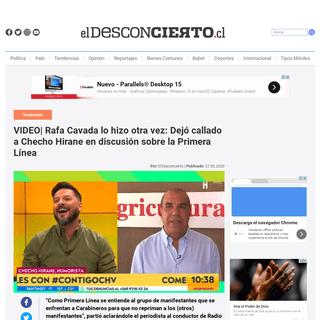 VIDEO- Rafa Cavada lo hizo otra vez- Dejó callado a Checho Hirane en discusión sobre la Primera Línea - El Desconcierto