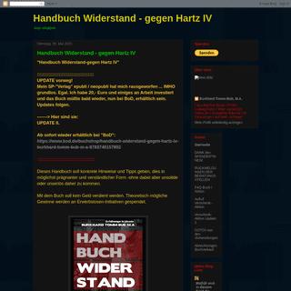 Handbuch Widerstand - gegen Hartz IV