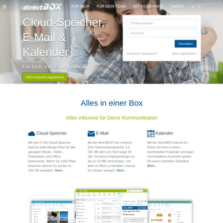 Willkommen - directBOX Freemail – Cloudmail made in Germany