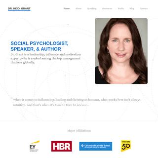 Dr. Heidi Grant – Social Psychologist – Speaker – Author – Heidi Grant is a psychologist who studies the science of moti