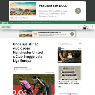 Onde assistir ao vivo o jogo Manchester United x Club Brugge pela Liga Europa - Metro Jornal