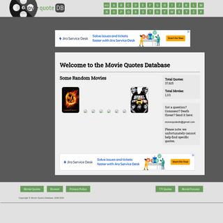 Movie Quotes Database