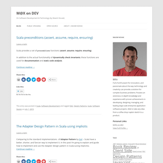 M@X on DEV - On Software Development & Technology (by Maxim Novak)