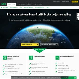 Broker LYNX - Investujte s výhodami