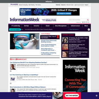 InformationWeek, serving the information needs of the Business Technology Community