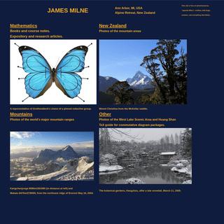 James Milne -- Home Page