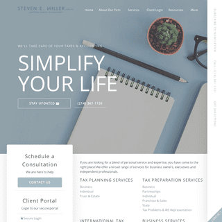 Dallas, TX CPA Firm - Home Page - Steven E Miller, CPA PC
