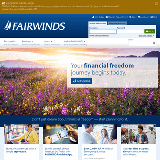 FAIRWINDS Credit Union - Helping You Achieve Financial Freedom