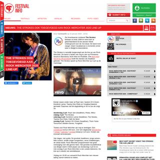 The Strokes ook toegevoegd aan Rock Werchter 2020 line-up - Nieuws op Festivalinfo