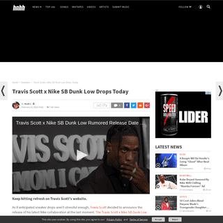 Travis Scott x Nike SB Dunk Low Drops Today
