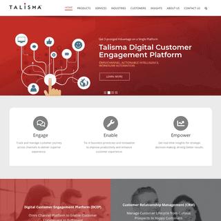 CRM Solutions for Enterprises - Customer Journey transformation -Talisma