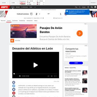 Cultural Leonesa vs. Atlético Madrid - Reporte del Partido - 23 enero, 2020 - ESPN