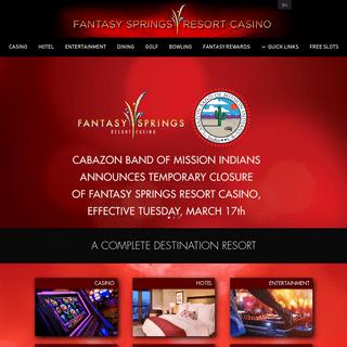 Fantasy Springs Resort Casino - Premier Palm Springs Gaming