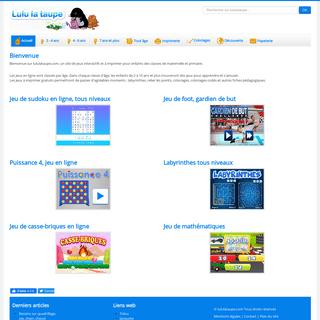 Accueil - Lulu la taupe, jeux gratuits pour enfants