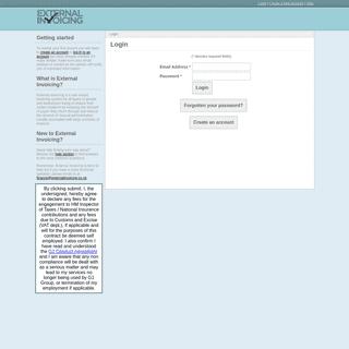 External Invoicing - Login