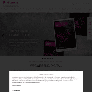 Corporate Site der T-Systems Multimedia Solutions