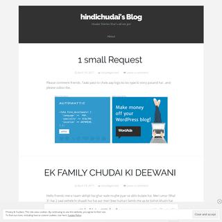 hindichudai's Blog - chudai Stories that's all we got