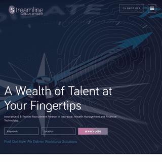 Streamline - Financial Change & Transformation Recruitment Solutions - Streamline - A Wealth of Talent