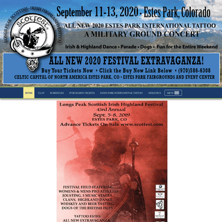 Highland Festival, Scottish Athletics - Estes Park, CO