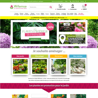 Jardinerie en Ligne Willemse. Achat, Vente de Plantes pour le Jardin, le Jardinage