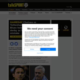 ArchiveBay.com - talksport.com/football/672057/chelsea-vs-tottenham-live-commentary-frank-lampard-jose-mourinho-premier-league/ - Chelsea vs Tottenham LIVE commentary- Blues hold on to win London derby as VAR admit Lo Celso mistake