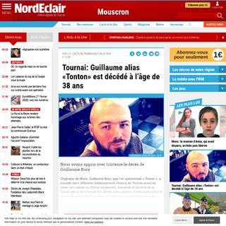 Tournai- Guillaume alias «Tonton» est décédé à l'âge de 38 ans - Édition digitale de Tournai