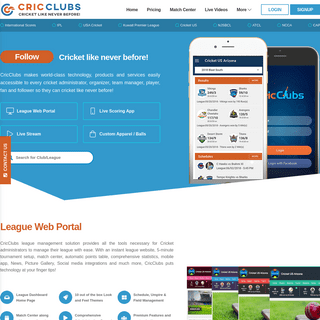 CricClubs-Cricket Like Never Before!