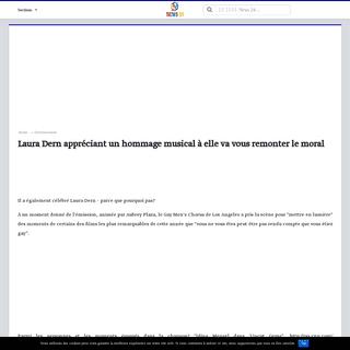 Laura Dern appréciant un hommage musical à elle va vous remonter le moral - News 24