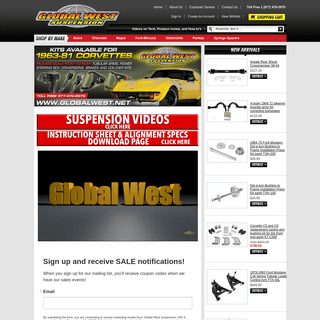 Global West Suspension - American Muscle Car Parts