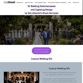 Rob Alberti Event Services - Rob Alberti DJ + Wedding Event Services - 413-562-2632