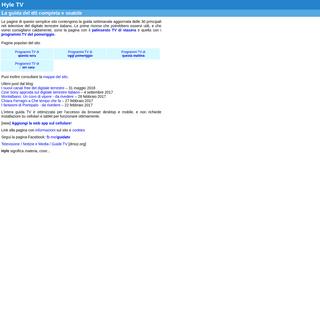 ArchiveBay.com - hyle.appspot.com - La guida TV più usabile - Hyle TV
