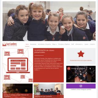Colegio Las Cumbres - Buenos Aires, Argentina - Sitio institucional del Colegio Las Cumbres, datos del colegio y blogs destacado