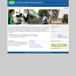 American Institute of Pesticide Training - Online Continuing Education