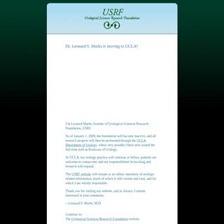 Urological Sciences Research Foundation - USRF