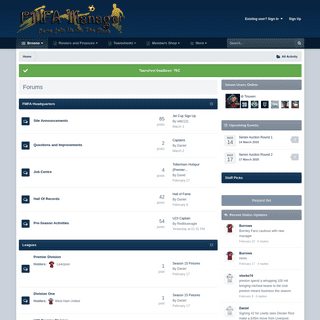 Forums - FMFA Manager